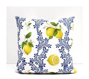 Limon Çiçeği Desenli Kırlent- DKRNYLMN görseli