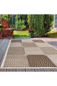 Giz Home Layton Dekoratif Halı 100X150 Kareli - 301LY00KR2193 görseli