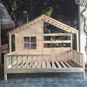 Maison Masif Ahşap Montessori Çocuk Yatağı 80x160 -MAI01KR görseli