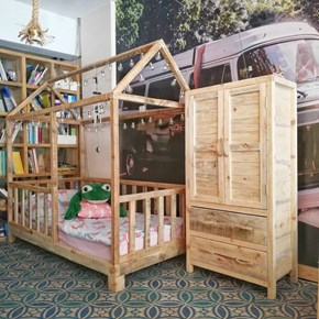 Montessori Masif Ahşap Çocuk Odası Takımı - MON02CO görseli