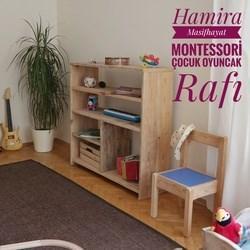 Montessori Masif Ahşap Çocuk Oyuncak Rafı - MON01RF görseli