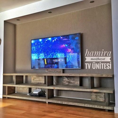 Masif Ahşap Tv Ünitesi Classique - CLA01TV görseli, Picture 1