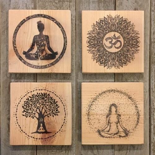 4'lü Yoga Dekoratif Mini Tablo Seti - YOG01TB görseli, Picture 1