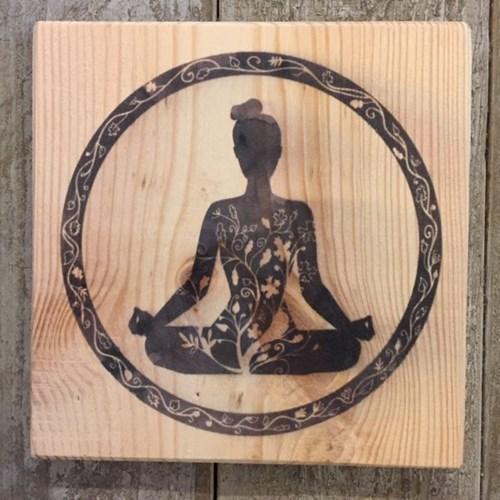 4'lü Yoga Dekoratif Mini Tablo Seti - YOG01TB görseli, Picture 4