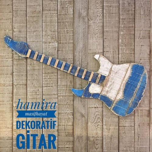 Masif Ahşap Dekoratif Gitar - MAS01GT görseli, Picture 1