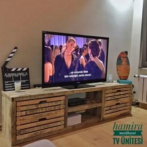 Vie Masif Ahşap TV Ünitesi - VIE01TV görseli