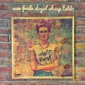 New Frida Masif Ahşap Tablo 35x35 - NEW01TB görseli