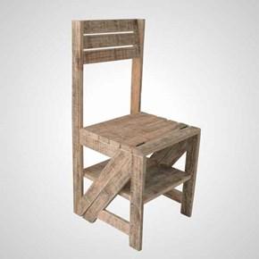 Masif Ahşap Smart Katlanır Sandalye - SMR01SN görseli