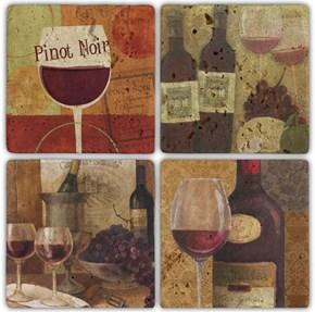 Pinotnoir  Doğal Taş Bardak Altlığı  - BA011 görseli