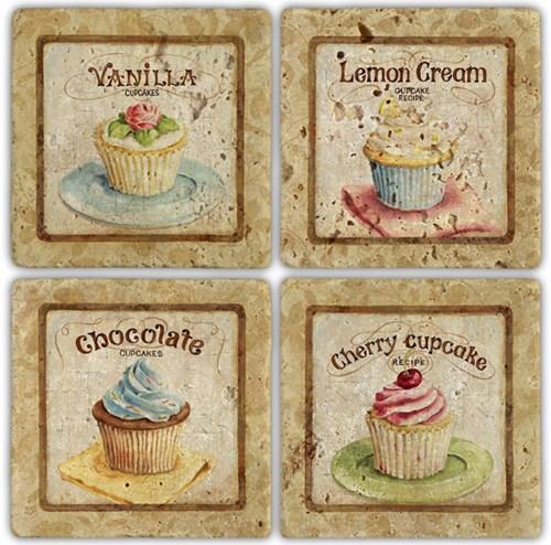 Muffin  Doğal Taş Bardak Altlığı - BA013 görseli, Picture 1