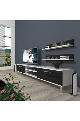 Eko 4 Mdf Dvd Krom Ayaklı Tv Ünitesi - DA01TV06 görseli, Picture 2