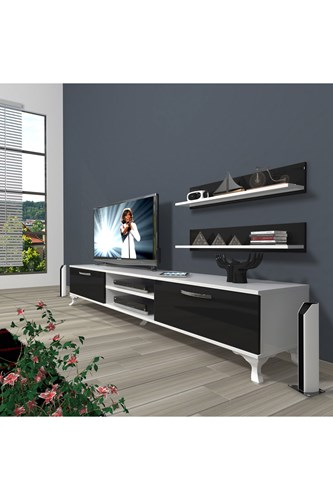 Eko 4 Mdf Dvd Rustik Tv Ünitesi - DA01TV08 görseli, Picture 2
