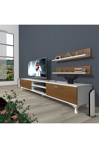 Eko 4 Mdf Dvd Rustik Tv Ünitesi - DA01TV08 görseli, Picture 3