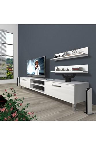 Eko 4 Slm Dvd Krom Ayaklı Tv Ünitesi - DA01TV14 görseli, Picture 1