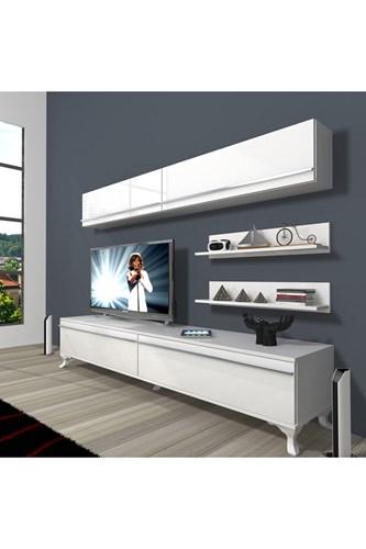 Eko 5 Mdf Std Rustik Tv Ünitesi - DA02TV04 görseli, Picture 1