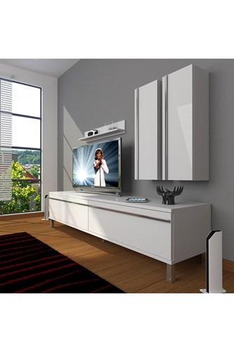 Eko 5d Mdf Std Krom Ayaklı Tv Ünitesi - DA03TV02 görseli, Picture 1