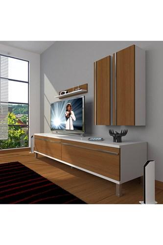 Eko 5d Mdf Std Krom Ayaklı Tv Ünitesi - DA03TV02 görseli, Picture 3