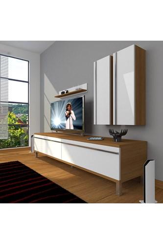 Eko 5d Mdf Std Krom Ayaklı Tv Ünitesi - DA03TV02 görseli, Picture 4