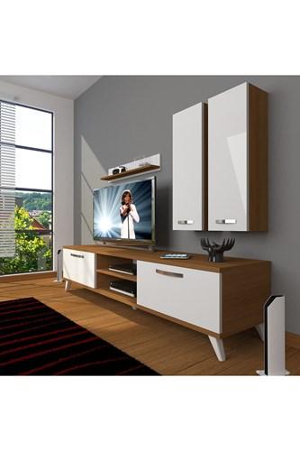 Eko 5d Mdf Dvd Retro Tv Ünitesi - DA03TV07 görseli, Picture 4
