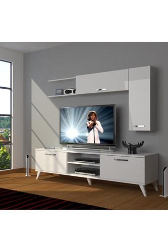 Eko 5l Mdf Dvd Retro Tv Ünitesi - DA05TV07 görseli, Picture 1
