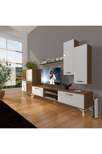 Eko 6 Mdf Dvd Rustik Tv Ünitesi - DA06TV08 görseli, Picture 4