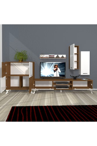 Eko 6 Mdf Dvd Rustik Tv Ünitesi - DA06TV08 görseli, Picture 5