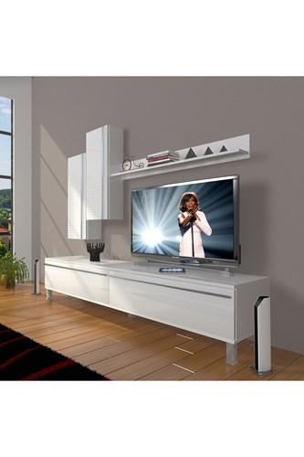 Eko 7 Mdf Std Krom Ayaklı Tv Ünitesi - DA08TV02 görseli, Picture 1