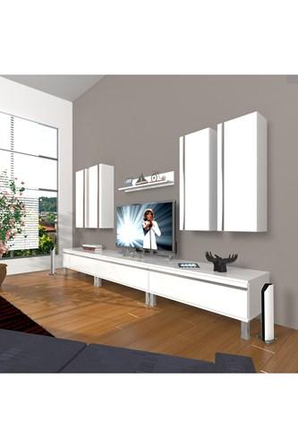 Eko 8d Mdf Krom Ayaklı Tv Ünitesi - DA10TV02 görseli, Picture 1