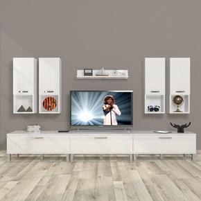 Eko 8da Mdf Krom Ayaklı Tv Ünitesi - DA10TV10 görseli