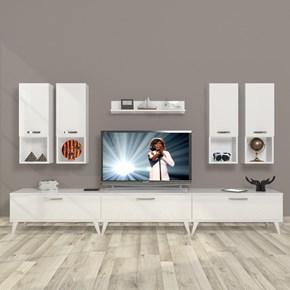 Eko 8da Mdf Retro Tv Ünitesi - DA10TV11 görseli