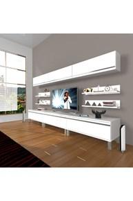 Eko 8y Mdf Krom Ayaklı Tv Ünitesi - DA11TV02 görseli