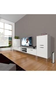 Eko On2 Mdf Dvd Krom Ayaklı Tv Ünitesi - DA14TV06 görseli