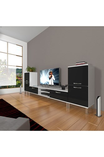 Eko On2 Mdf Dvd Krom Ayaklı Tv Ünitesi - DA14TV06 görseli, Picture 2
