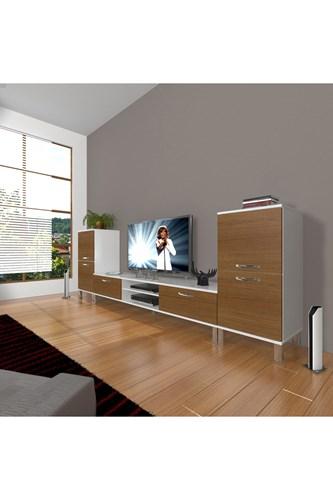 Eko On2 Mdf Dvd Krom Ayaklı Tv Ünitesi - DA14TV06 görseli, Picture 3