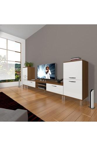 Eko On2 Mdf Dvd Krom Ayaklı Tv Ünitesi - DA14TV06 görseli, Picture 4