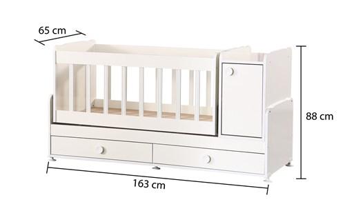 Çekmeceli Sallanır Büyüyen Uzamalı Bebek Beşiği - D202 görseli, Picture 4