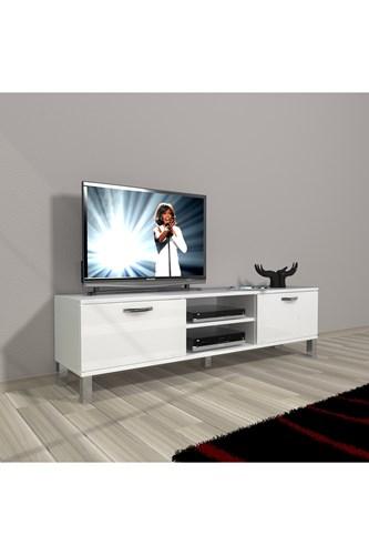 Eko 140 Slm Dvd Krom Ayaklı Tv Ünitesi - DA15TV18 görseli, Picture 1