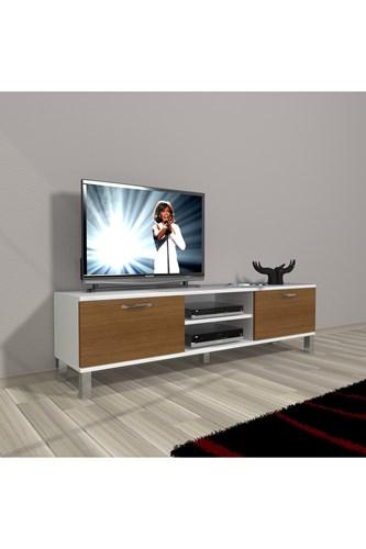 Eko 140 Slm Dvd Krom Ayaklı Tv Ünitesi - DA15TV18 görseli, Picture 3