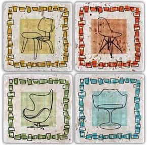 Sit Down Doğal Taş Bardak Altlıkları - BA049 görseli