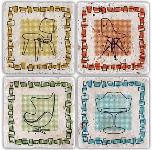 Sit Down Doğal Taş Bardak Altlıkları - BA049 görseli, Picture 1