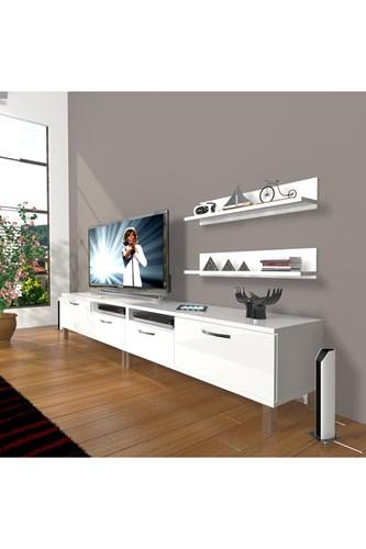 Eko 220r Mdf Krom Ayaklı Tv Ünitesi - DA17TV02 görseli, Picture 1