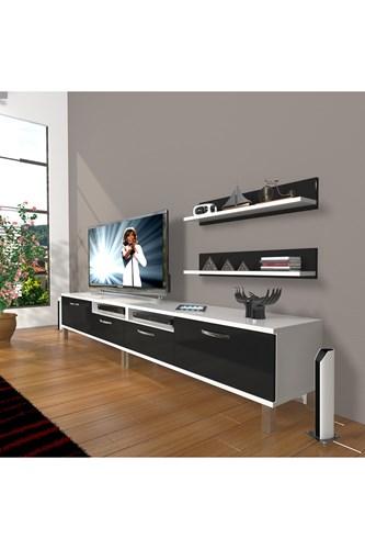 Eko 220r Mdf Krom Ayaklı Tv Ünitesi - DA17TV02 görseli, Picture 2