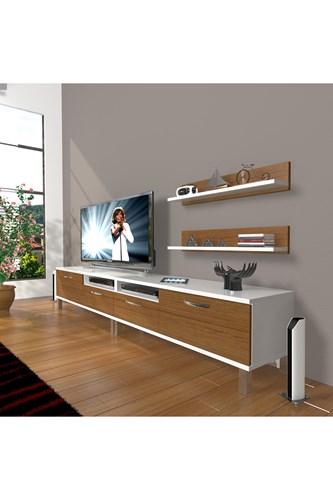 Eko 220r Mdf Krom Ayaklı Tv Ünitesi - DA17TV02 görseli, Picture 3