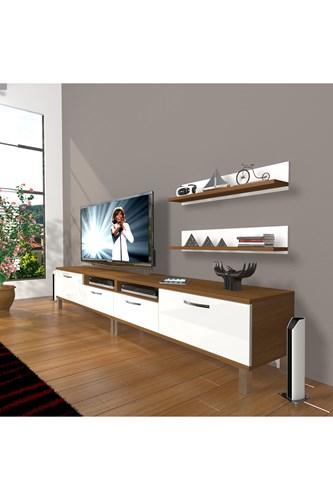 Eko 220r Mdf Krom Ayaklı Tv Ünitesi - DA17TV02 görseli, Picture 4