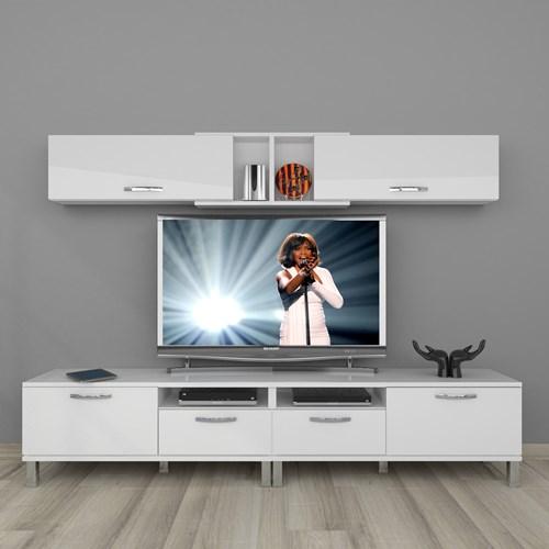 Eko 5220 Mdf Krom Ayaklı Tv Ünitesi - DA18TV02 görseli, Picture 1
