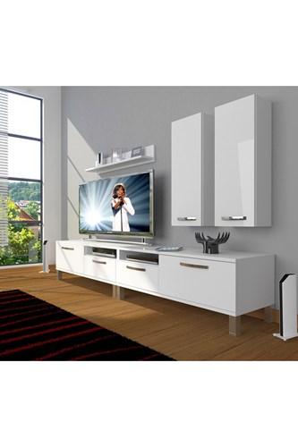 Eko 5220d Slm Krom Ayaklı Tv Ünitesi - DA18TV14 görseli, Picture 1