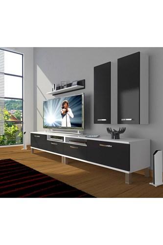 Eko 5220d Slm Krom Ayaklı Tv Ünitesi - DA18TV14 görseli, Picture 2