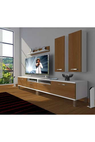 Eko 5220d Slm Krom Ayaklı Tv Ünitesi - DA18TV14 görseli, Picture 3