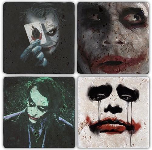 Joker Doğal Taş Bardak Altlıkları  - BA061 görseli, Picture 1
