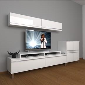Ekoflex 6y Mdf Krom Ayaklı Tv Ünitesi - DA21TV02 görseli